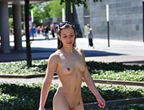 naked girls in public - July